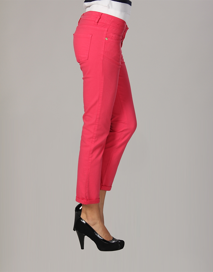pembe kapri pantolon ornekleri Yeni Trend Farklı Bayan Pantolonları 14