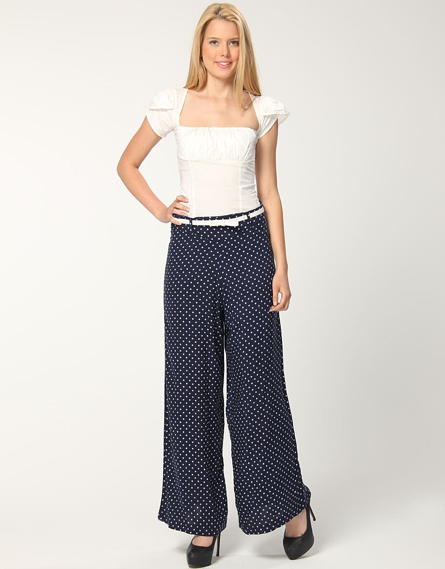 puantiyeli yuksek bel etek pantolon Yeni Trend Farklı Bayan Pantolonları 15