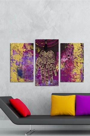 renkli ahsap tablo cesitleri 3 Parçalı Ahşap Tablo Modelleri 21