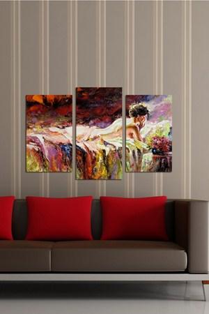 yeni sezon dekoratif ahsap tablolar 3 Parçalı Ahşap Tablo Modelleri 23