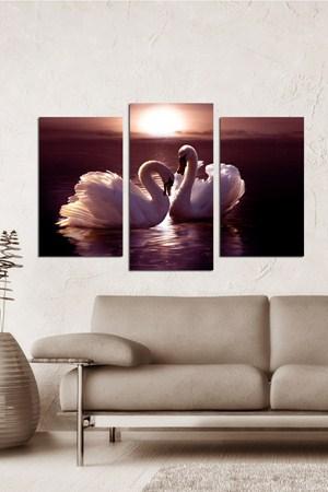 yeni trend dekoratif tablo cesitleri 3 Parçalı Ahşap Tablo Modelleri 29
