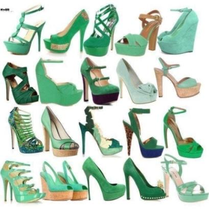 yesil yuksek topuklu ayakkabi modelleri Yeni Trend Farklı Yüksek Topuklu Ayakkabı Trendleri 21