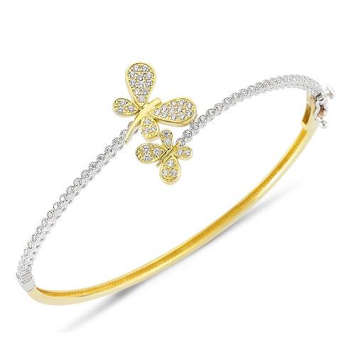 kelebek sekilli beyaz tasli bilezik ornekleri Altınbaş Altın Bilezik Modelleri 19