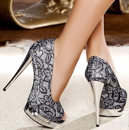 dantelli platform topuklu ayakkabi ornekleri Renkli Platform Topuklu Ayakkabı Modelleri 3