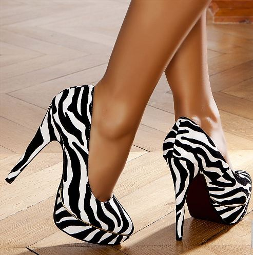 zebra desenli topuklu ayakkabi tasarimlari Renkli Platform Topuklu Ayakkabı Modelleri 22