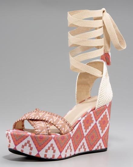 dolgu tabanlı sandalet modeli