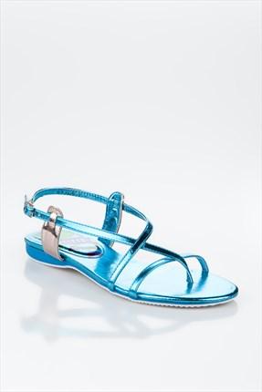 mavi parlak sandalet1 Yaz Sezonu Sandalet Modelleri 17