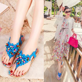 sandalet mavi boncuklu1 Yaz Sezonu Sandalet Modelleri 21