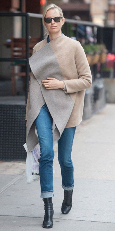 Jean kot pantolon kombin Çok Şık Kışlık Kombinler 10