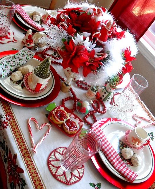 Kirmizi beyaz yilbasi masa dizayn Yılbaşı Ve Kırmızı! 8