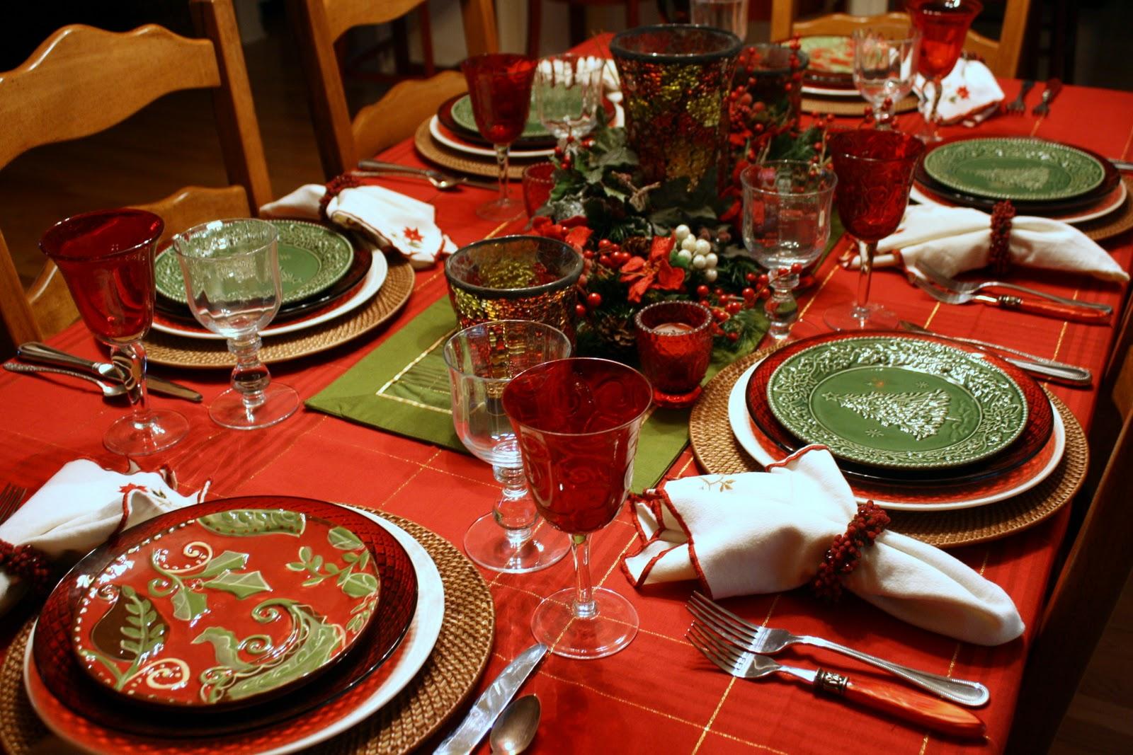Kirmizi yesil yemek takimi modeli Yılbaşı Ve Kırmızı! 26