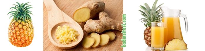 Antioksidan: Zencefilli Ananas