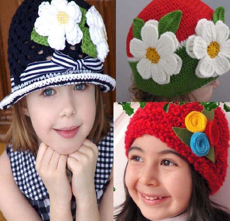 1238 Tığ Örgüsü Kız Bebek Bereleri Modelleri 4