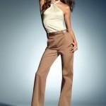 bal rengi bol paça bayan pantolonları