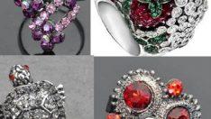 Kristal Bayan Yüzük Modelleri