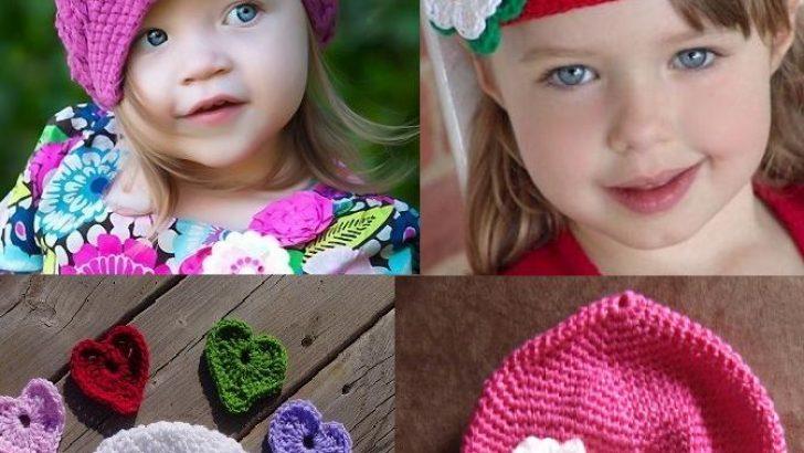 Tığ Örgüsü Kız Bebek Bereleri Modelleri
