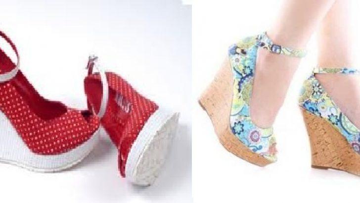 Yeni Trend Dolgu Topuk Ayakkabı