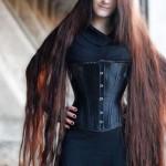 düz uzun saç