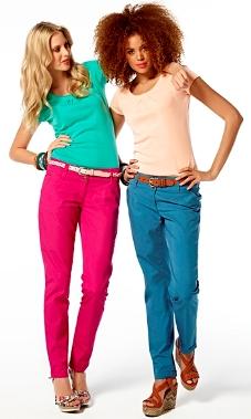 defacto renkli keten pantolon modelleri