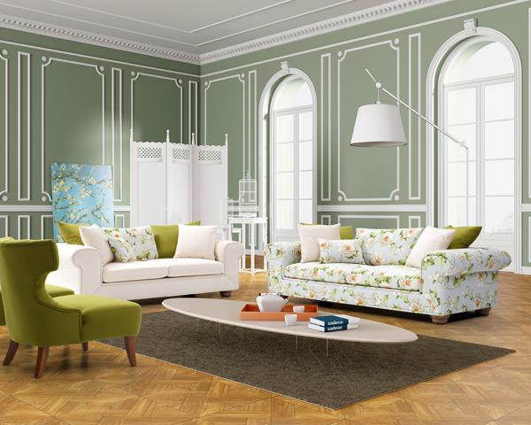 en güzel çiçekli koltuk takımı örnekleri
