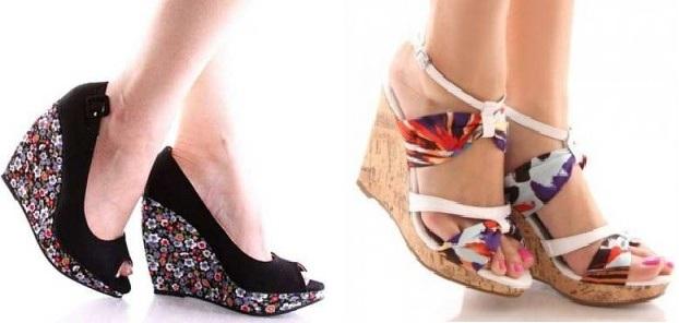 farklı dolgu topuk ayakkabı