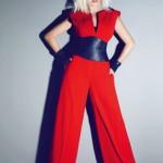 kırmızı kolsuz bol paça tunik modelleri