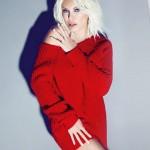 kırmızı uzun kollu triko elbise modelleri
