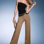 klasik kahverengi kumaş pantolonlar