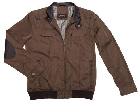 lc waikiki kolları deri yamalı ceket modeli