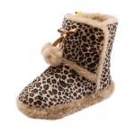 leopar desenli kürklü ev botları
