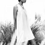 pileli kolsuz mini elbise örnekleri