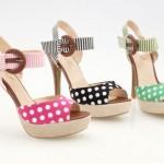 puantiyeli kemerli tokalı ayakkabı modelleri