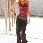 siyah cepli kargo pantolonları