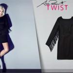 siyah mini püsküllü uzun kollu elbise modelleri