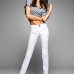 skinny beyaz dar paça pantolon örnekleri