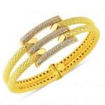 yeni trend sarı altın bilezikler